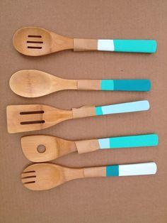 Personnaliser ses ustensiles de cuisine en bois
