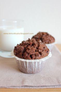 i dolci di Caia: Muffin con pepite di cioccolato al latte