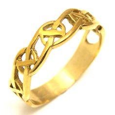 Bague de mariage celtique or 9ct (CE12)