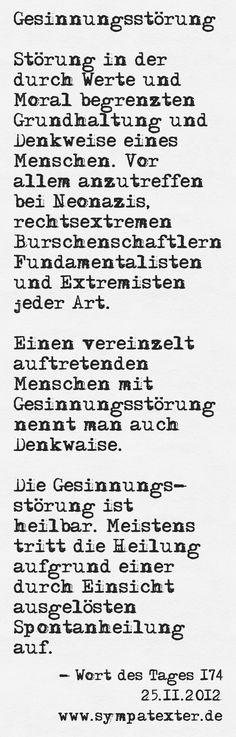Gesinnungsstörung - www.sympatexter.de