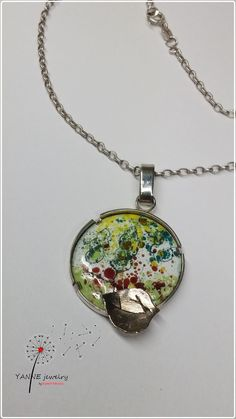 Yanne Jewelry Work- Katalin Rakoczy poplar trees in the summer breeze-enameled pendant, all rights reserved