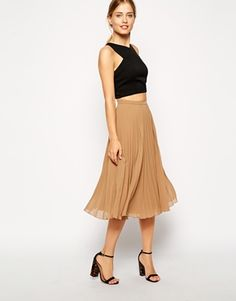 ASOS Pleated Midi Skirt (more colors)