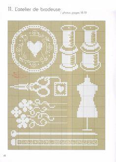 AGNES DELAGE-CALVET ET ANNE SOHIER-FOURNEL Blanc Motifs de broderie traditionnelle et au point de croix ♥