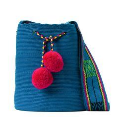 Tienda online de Bolsos Wayuu étnicos y artesanales en Madrid |Full Moonrise Cotton Bag, Cotton Thread, Fabric Drawing, Hand Knitting, Coin Purse, Weaving, Tapestry, Crafts, Handmade