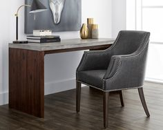 Modern Furniture Toronto - BLVD Interiors - home office - desks - Madrid Concrete Desk - 32DK831