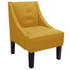 Skyline Furniture Linen Swoop Armchair