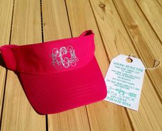Custom Monogram glitter initials sun visor by 28716Chick on Etsy