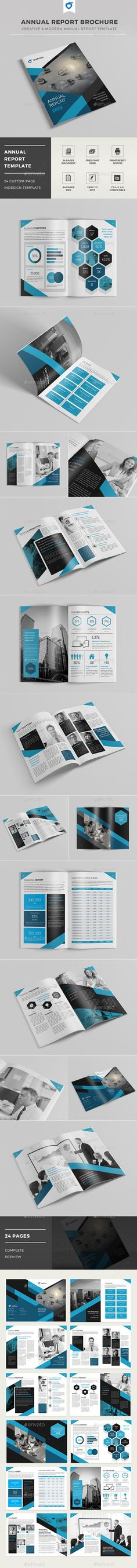 Annual Report Brochure  —  InDesign Template • Only available here! →…