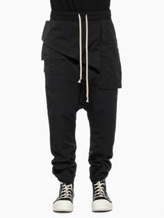 Drawstring puppy memphis pants from the collection S/S2014 Rick Owens DRKSHDW in black
