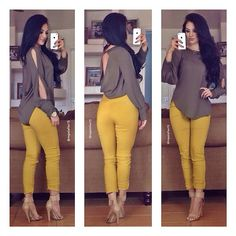 """Images from Maria Palafox """"Find this beautiful outfit 😍👌 You can dress it up by tugging in your shirt or wear it as it is for a casual look 😊 31 Beautiful Outfits To Try Out Now! Beautiful Business Casual Attire for the Ladies For any graduates Business Casual Outfits, Classy Outfits, Chic Outfits, Beautiful Outfits, Spring Outfits, Trendy Outfits, Fashion Outfits, Elegante Outfits, Look Fashion"""