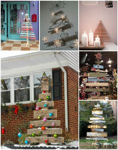 Pallet Christmas trees can be used to decorate any style of home because you can create different styles by using the same form. White Christmas tree: Colo