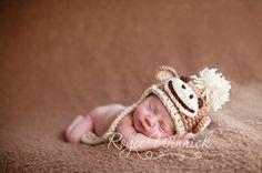 Singe Earflap bébé nouveau-né Crochet photographie Prop sur Etsy, 13,34€