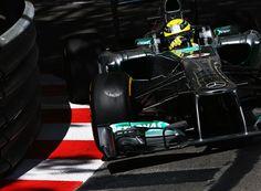 Nico Rosberg hits the apex at Mirabeau