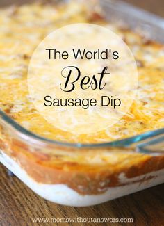 The World's Best Sausage Dip This World's Best Sausage Dip is sure to be a party favorite. Quick and easy recipe will be your new party go to that your friends will beg for. - Everything About Appetizers Sausage Dip, Best Sausage, Yummy Appetizers, Appetizer Recipes, Dip Recipes, Easy Appetizer Dips, Easy Appetizers For Party, Quick Party Food, Appetizer Dishes