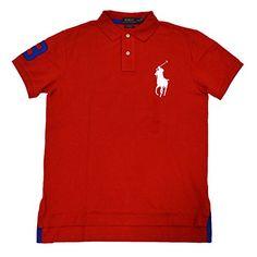 POLO RALPH LAUREN Polo Ralph Lauren Mens Custom Fit Big Pony Mesh Polo Shirt. #poloralphlauren #cloth #
