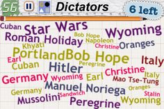 I put my wife's name under Category: Dictators in Word Mess. She approves!