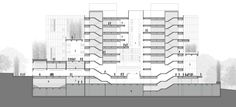 Image 21 of 26 from gallery of IT Convergence Building / Kyu Sung Woo Architects. Building Section, Architecture Student, Singing, Multi Story Building, Floor Plans, Image 21, 21st, Diagram, Gallery