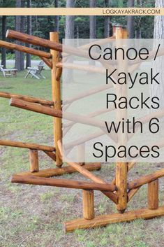 Our durably constructed 6 slot kayak/canoe rack has two quad racks back to back – holding 6 kayaks, canoes, paddle boards, or other boats total. With our exceptional product storing and caring for your kayak and canoes will be easier than ever and they'll actually look good out of the water. #kayak #logkayakrack Kayak Rack, Kayak Storage, Canoes, Kayaks, Racking System, Canoe And Kayak, Small Boats, Paddle Boarding, Quad