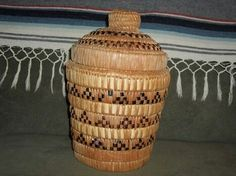 Salish Basket made for John McClelland Jr., 1915-2010.  He was a visionary who truly lived and was the starter of cable TV, which was absorbed into Cox Cable.  He collected Native American basketry, and this was in his private collection. This basket is 10 inches high and 6 inches in diameter at the rim. I usually do not collect basketry that is newer, like this one that was made in the 1950's, but the provenance made me want to include it in my private collection.
