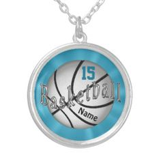 "Basketball Necklace with Jersey NUMBER and NAME typed into TEXT BOXES beneath the ""Personalize it"" section. Sports Stuff Personalized Sports Gifts. Football, Basketball, Tennis, Soccer and more.  ADD YOUR NAME and or NUMBER on many of the Sports Gifts.  CLICK this LINK to see ALL Custom Sports Gifts: http://www.zazzle.com/littlelindapinda/gifts?cg=196082661659570933&rf=238147997806552929*/  ALL of Little Linda Pinda Designs CLICK HERE: http://www.Zazzle.com/LittleLindaPinda*/"