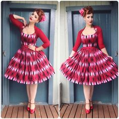 Pin-up style # MissVictoryViolet 50s Outfits, Rockabilly Outfits, Pin Up Outfits, Outfits 2016, Rockabilly Fashion, Little Girl Outfits, Teenager Outfits, 1950s Fashion, Dress Outfits