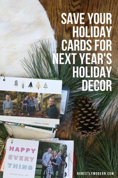 Don't toss the holiday cards. Repurpose them and enjoy your holiday cards for years to come! They make the best eco-friendly holiday decor and are a great way to extend the life of a fun holiday tradition. Favorite Holiday, Holiday Fun, Holiday Cards, Holiday Decor, Book Binder, Holiday Activities, Holiday Traditions, Funny Stories, Family Life