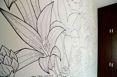 A sharpie wall mural doodled entirely with sharpies within ...
