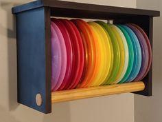 Simple and Ridiculous Ideas: Shelf Vintage Wooden Shelves small shelf box. Display Shelves, Wall Shelves, Disc Golf Bag, Glass Shelves Kitchen, Innova Disc Golf, Golf Score, Custom Shelving, Woods Golf, Iron Shelf