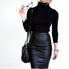 - Details - Size Guide - Model Stats - Contact Wanna feel the heat? Then slip on this Dance With Me Pleather Skirt! Featuring a pleather material in a pencil skirt styling. High waisted fit with zip c