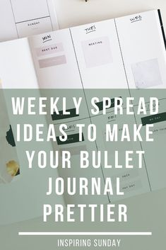 Looking for weekly spread ideas? Here I've rounded up 126 amazing weekly spread for your bullet journal. I broke it down by each month from January, February, March, April, May, June, July, August, September, October, November, December. So you can try different theme on your weekly spread bujo. #inspiringsunday #weeklyspread #weeklyspreadbulletjournal #weeklyspreadtheme #weeklyspreadideas #weeklyspreadonepage Bullet Journal Junkies, Bullet Journal Layout, Bullet Journal Inspiration, Bullet Journals, Journal Fonts, Bullet Journal Printables, Journal Pages, Bullet Journal How To Start A, Bullet Journal Spread