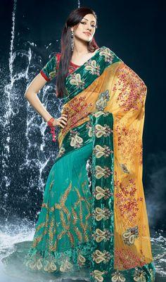Special Designer Green Saree