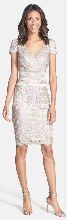 Tadashi Shoji Sequin Embellished Dress