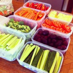 """prep day """"salad bar"""" containers // prep one day and then use to create snacks, salads and meals throughout the week #prepday #healthy #clean"""