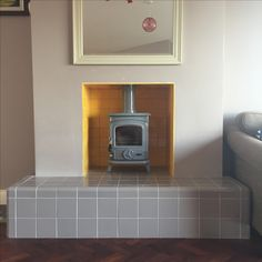 Oisin grey gloss stove