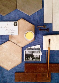 Ceramic tiles moodboard brick lane theme / Giulia Begal interior design stylist