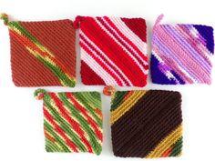 Vintage Pot Holders Crochet Trivets Set of 5 by nyannyanvintage on Etsy https://www.etsy.com/listing/521212157/vintage-pot-holders-crochet-trivets-set