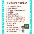 This is a poster for upper elementary students to use as a part of a number of the day daily routine. I post the number of the day in my morning ro...