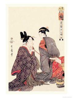 The Hour of the Tiger Julisteet tekijänä Kitagawa Utamaro AllPosters.fi-sivustossa