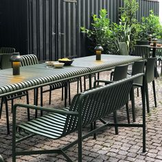 Outdoor Seating, Outdoor Tables, Outdoor Decor, Ikea And Hay, Belmont House, Hay Design, Stackable Chairs, Rooftop Bar, Outdoor Gardens