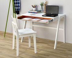 Escrivaninha Oslo Branca e Laranja - Escrivaninhas na Oppa R$499,00