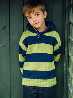 TAYLOR from Kids Essential Knits by Quail Studios by Quail Studio featuring 6-8 designs for children aged 7-12 years using Rowans Cotton yarns. Designed to be a wearable all round collection for Kids. Featuring a core collection of hand knit sweaters, cardigans, and accessories that will see your children through the chilly spring months | English Yarns