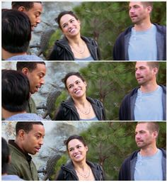 Paul, Michelle and Ludacris on set of F7