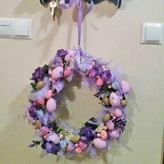 #wreath #spring #easter #eggs #decoration #diy #handmade #feathers #wianek #dekoracje #wiosna #wielkanoc #jajka #pióra