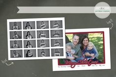 Custom Christmas Card PhotoBooth by annblairecreations on Etsy, $17.00