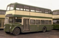 This set consists of scanned negatives and slides, as well as recent digital images, of half-cab double deck buses. Nottingham City, Buses And Trains, Double Deck, Bus Coach, London Bus, London Transport, Busses, Commercial Vehicle, Taxi