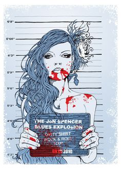 This is the 2010 European tour poster for Jon Spencer Blues Explosion. It's an handmade silkscreen print, cm. 50 x colours on heavy paper and limited to 124 pieces Tour Posters, Band Posters, Music Posters, Jon Spencer Blues Explosion, Graphic Design Illustration, Illustration Art, Art Hippie, Graffiti, We Will Rock You