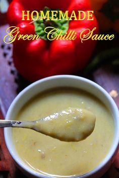 YUMMY TUMMY: Homemade Green Chilli Sauce Recipe