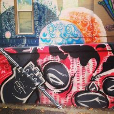 The work of Lady Lucx, and Nice One in the back.   Denver street art   #streetart