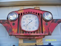 Jeep Grill Clock... created by my husband!