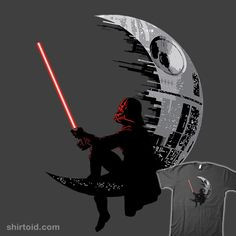 Haha it's like the DreamWorks logo - Star Wars Death Star - Ideas of Star Wars Death Star - Haha it's like the DreamWorks logo Star Wars Tattoo, Death Star Tattoo, Star Wars Fan Art, Images Star Wars, Star Wars Pictures, Film Movie, Movies, Vader Star Wars, Star Trek